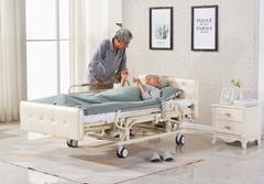 京祝E07家用多功能电动护理床(软包床头)