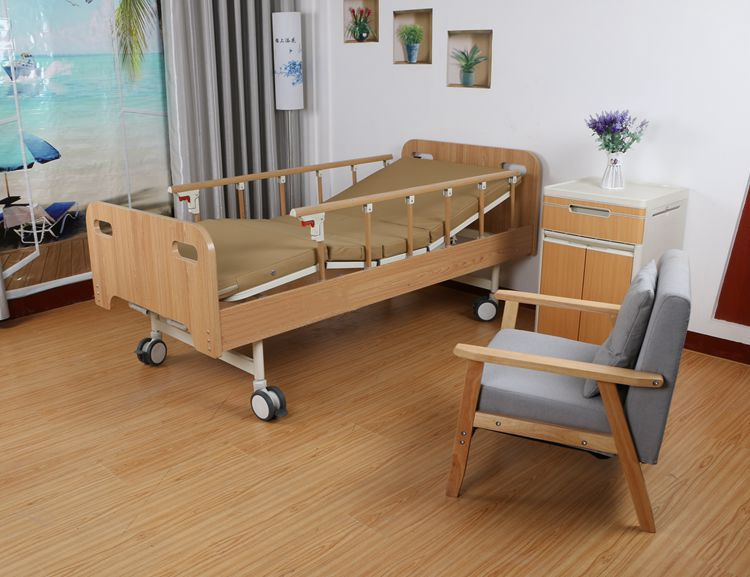 京祝Y06木质全包围板式养老院病床