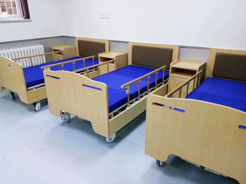 京祝Y11木质软包电动养老院多功能护理床